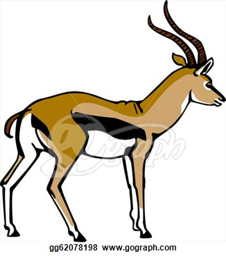 Free gazelle clip art.