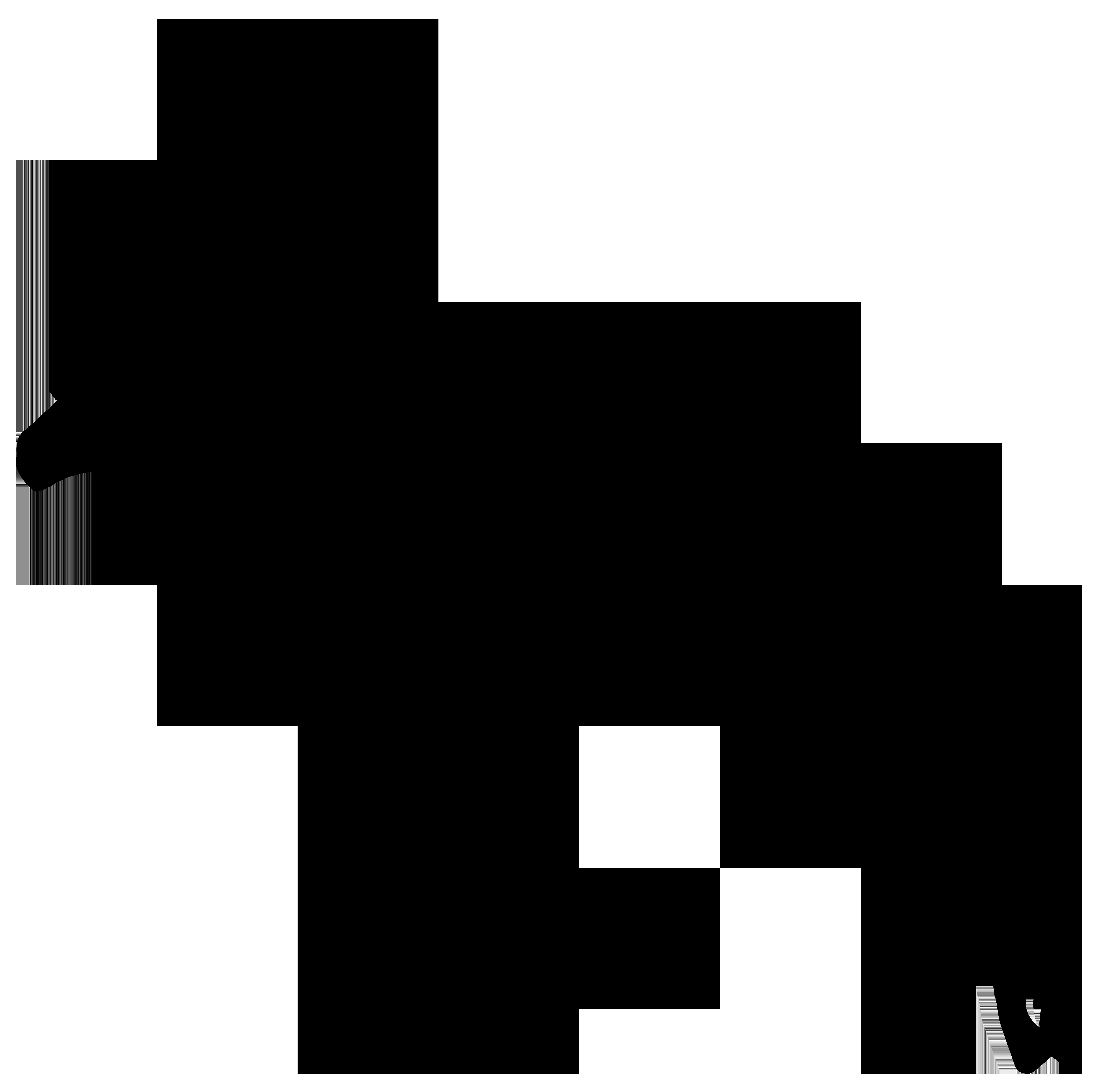 Gazelle Silhouette PNG Transparent Clip Art Image.