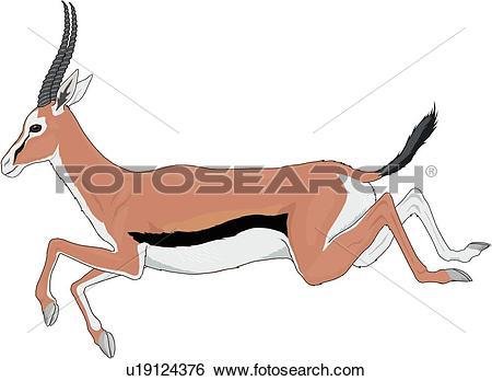 Clip Art of Gazelle u19124376.