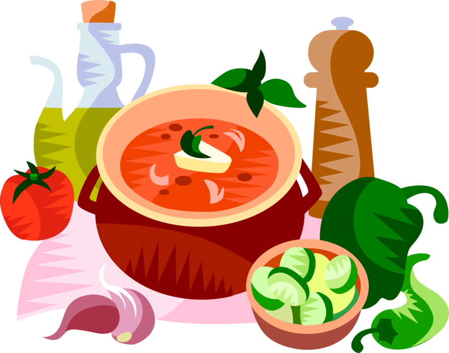 Soup clipart gazpacho, Soup gazpacho Transparent FREE for.