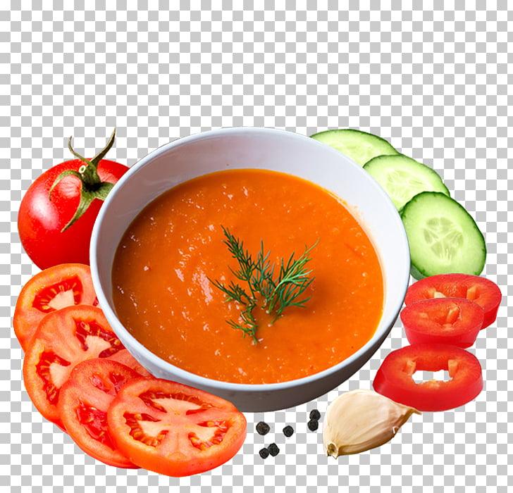 Tomato soup Gazpacho Vegetarian cuisine Vegetable Garnish.