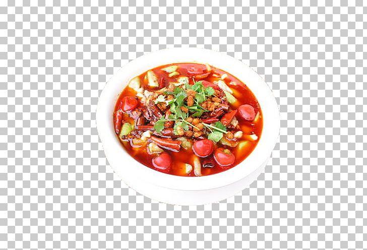 Gazpacho Tomato Soup Thai Cuisine Food Fish PNG, Clipart.
