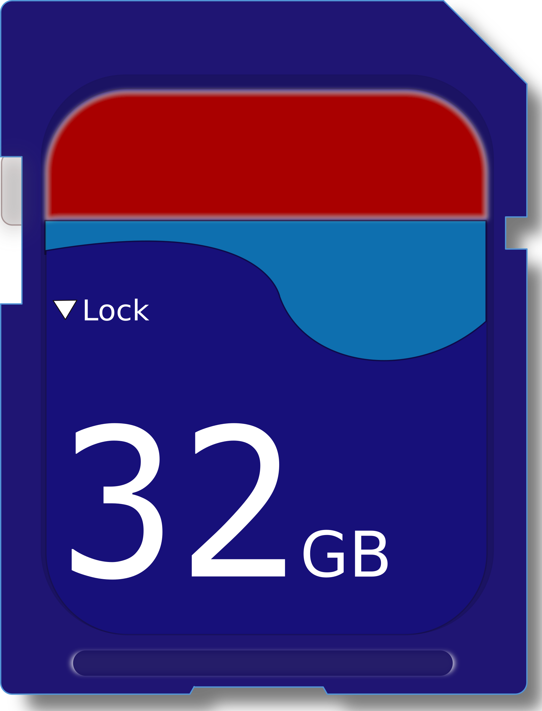 32 GB SD Card vector clipart image.