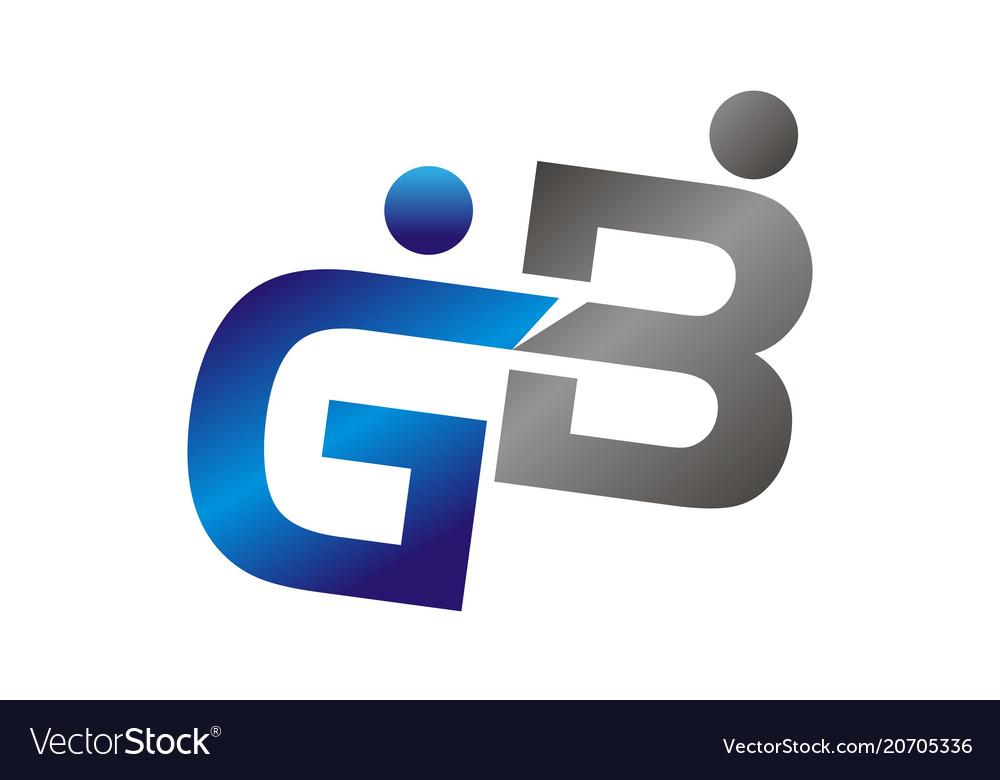 Letter gb logo design template.
