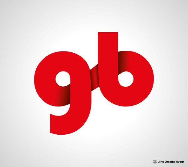 Gb gigabyte logo design Free vector in Encapsulated.