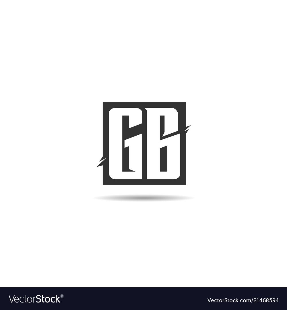 Initial letter gb logo template design.