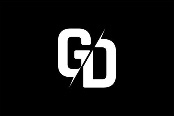 Monogram GD Logo Design.