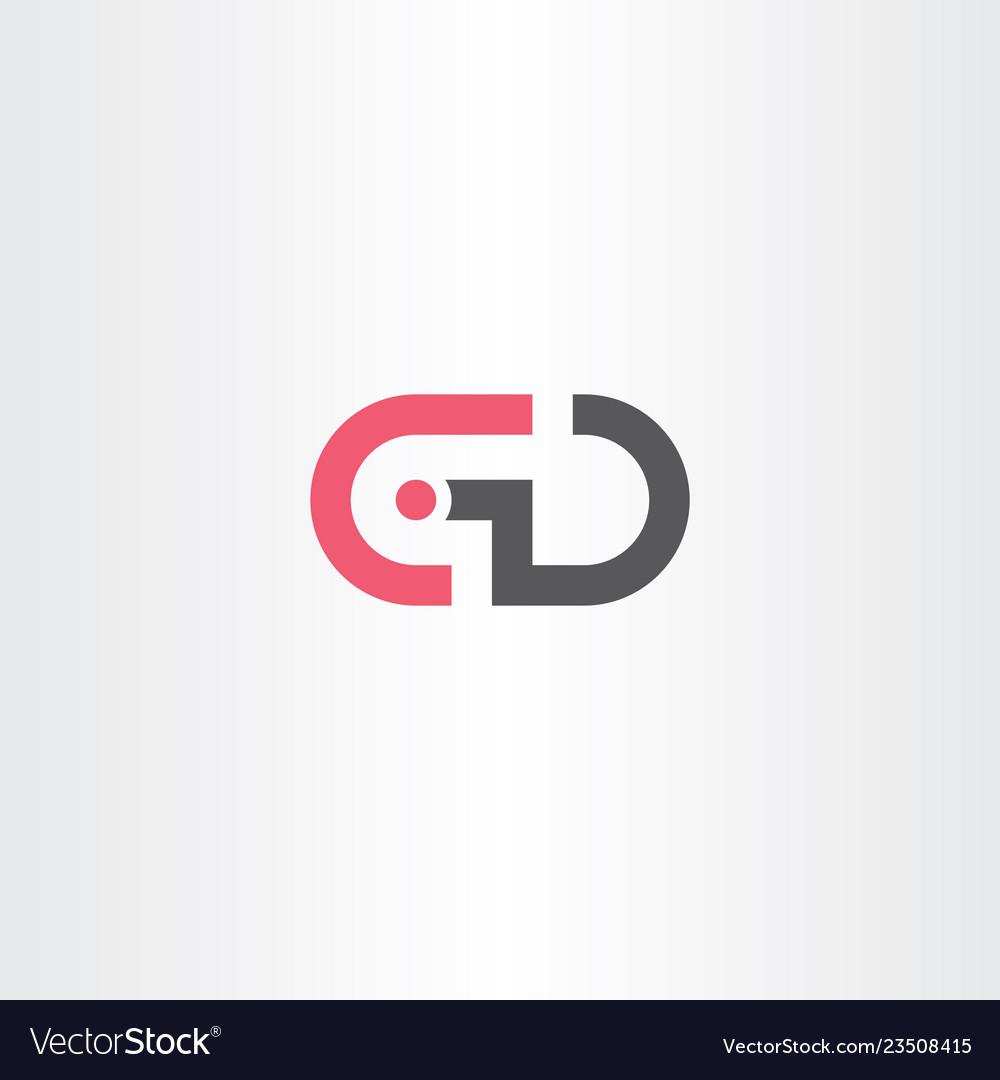 Gd letter g d logo symbol icon.