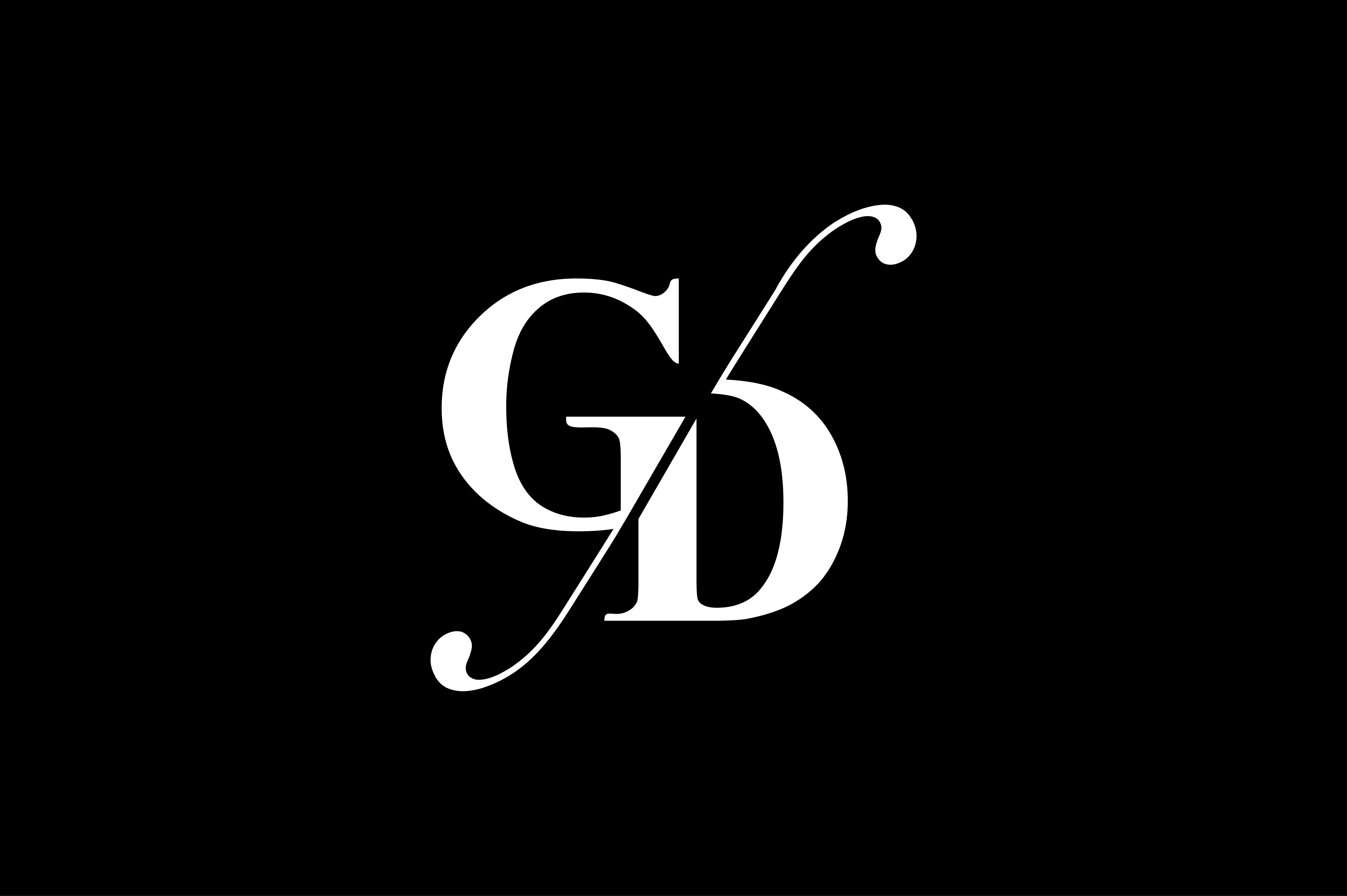 GD Monogram Logo Design By Vectorseller.