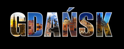Collage Of Gdansk (Poland) Images.