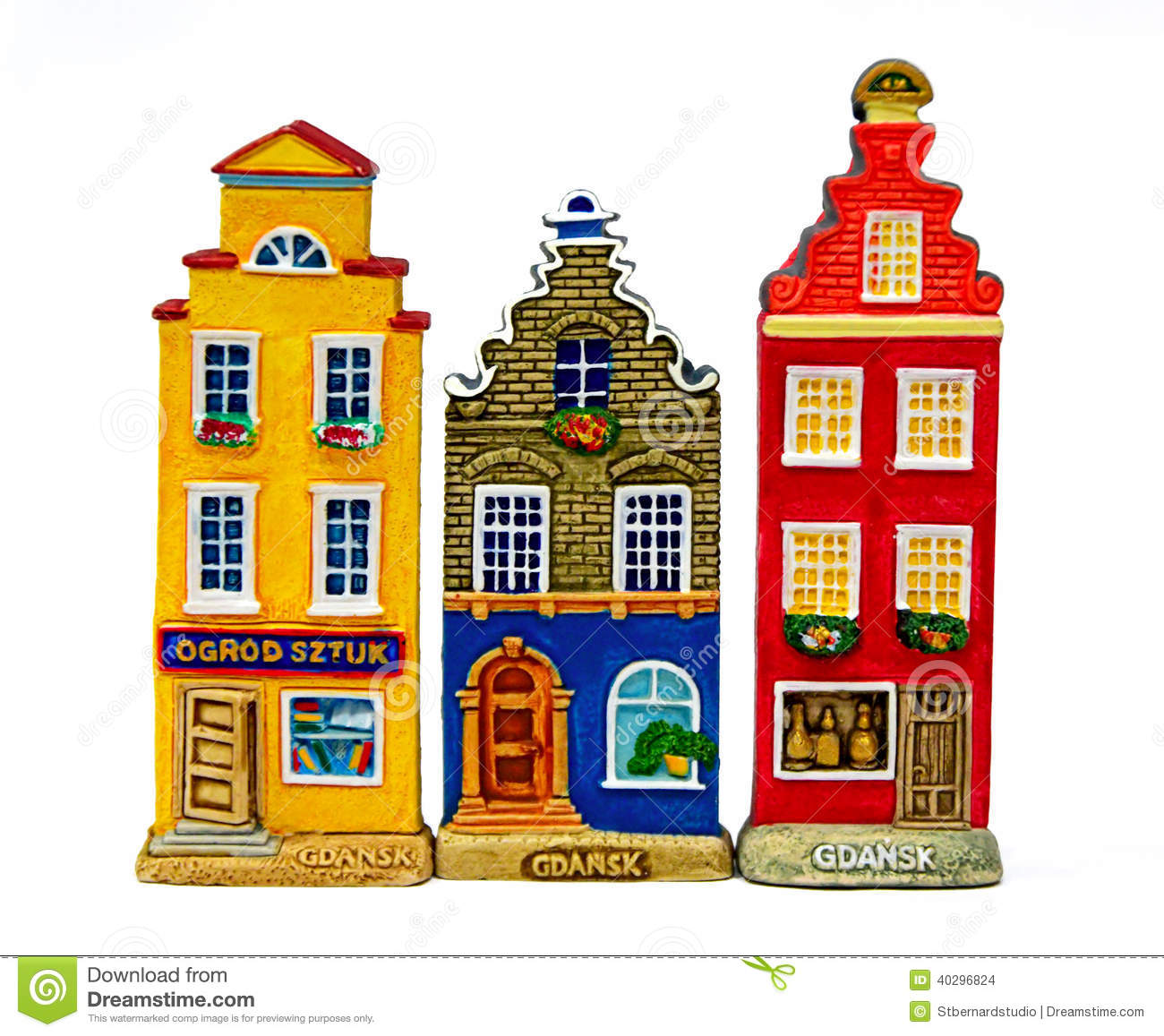 Colourful Townhouses In Gdansk Stock Photo.