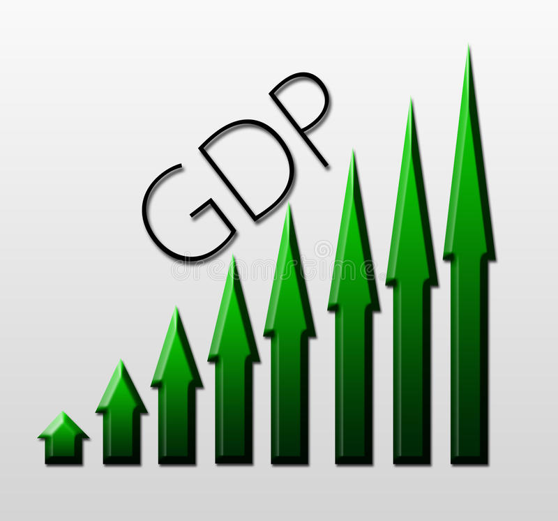 Gdp Growth Stock Illustrations.