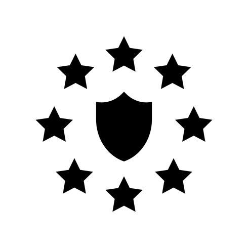 GDPR General Data Protection Regulation icon, solid style.
