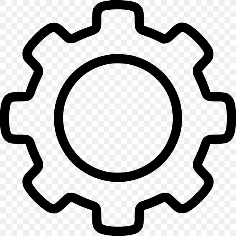Gear Clip Art, PNG, 980x982px, Gear, Area, Black And White.