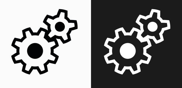 Best Gears Black Background Illustrations, Royalty.