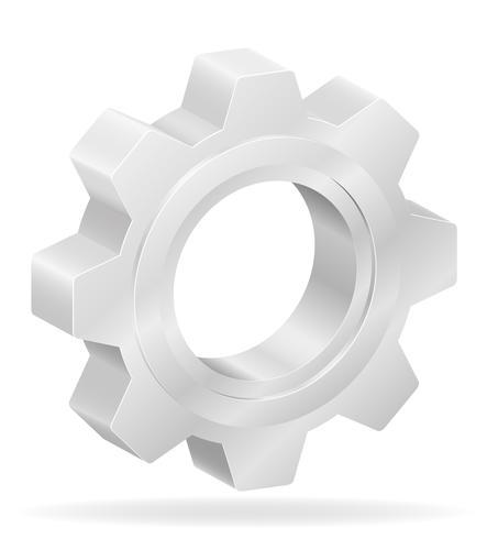 icon gear vector illustration.