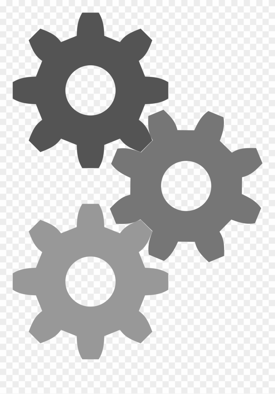 Transparent Gear Cog Clipart Black And White Download.