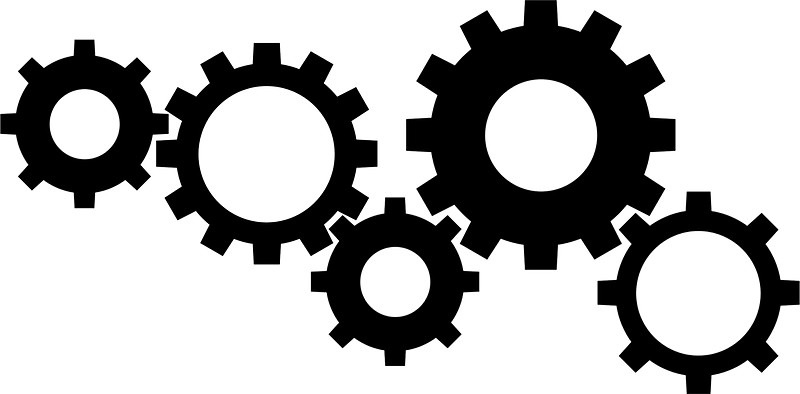 Gear Clipart Black And White.