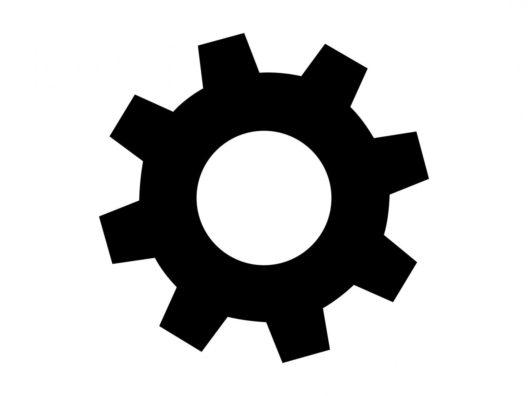 Gear Svg Gears Silhouette Clipart Dxf.