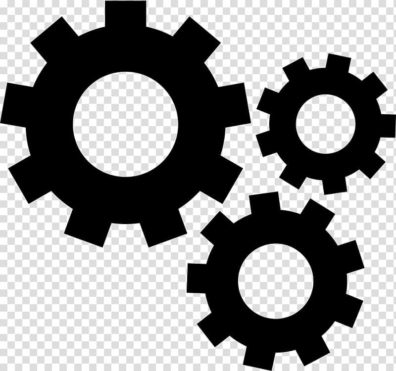 White wheel , Gear Computer Icons Mechanical Engineering.