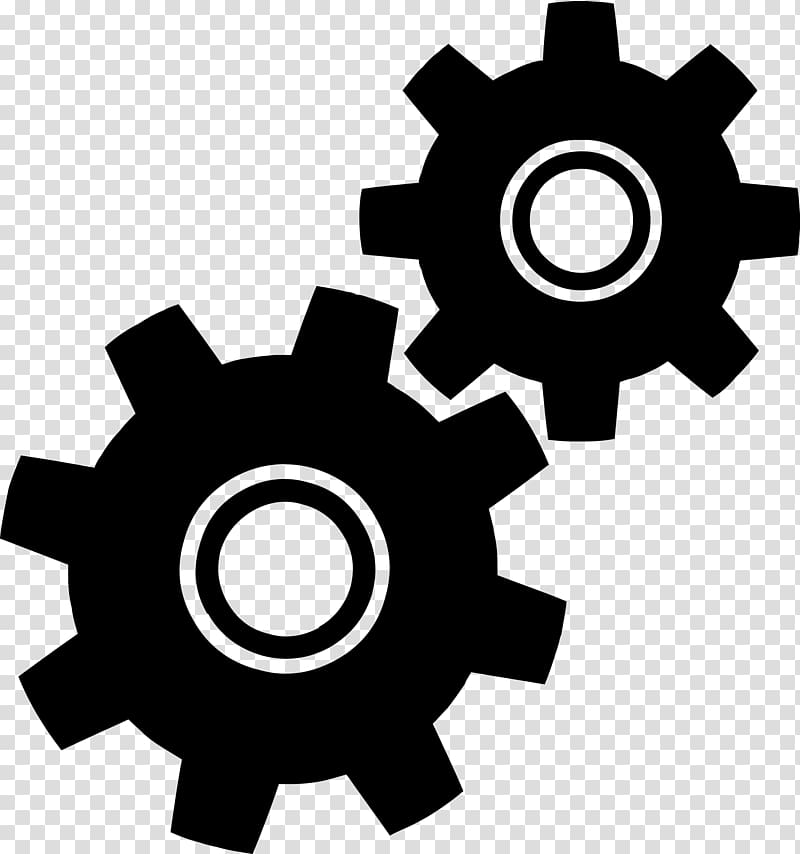 Gear The Noun Project Icon, Gears transparent background PNG.