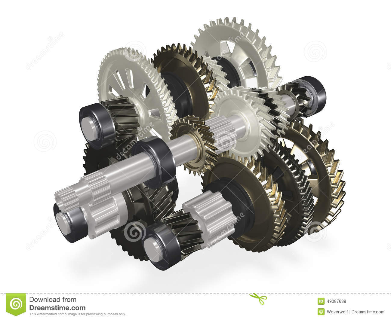 Abstract Gearbox Royalty Free Stock Photography.