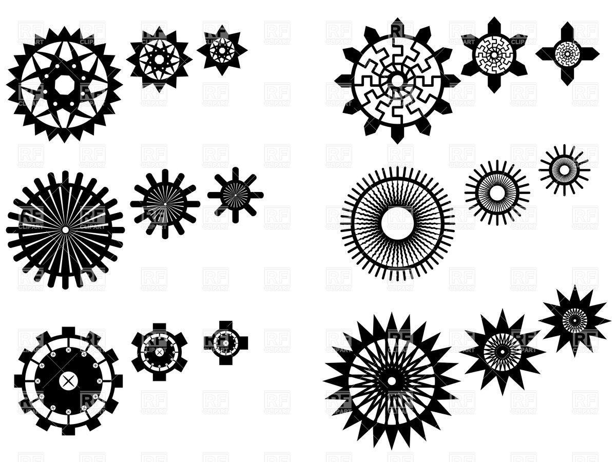 Ornate gear wheels Vector Image #34709.