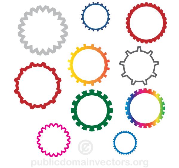 Gear Wheels Vector Images.