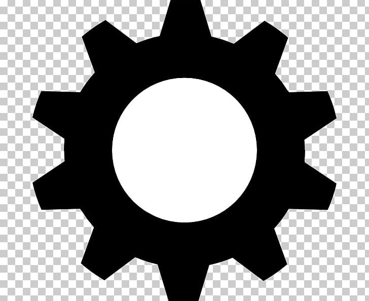Black Gear PNG, Clipart, Bicycle Gearing, Black And White.
