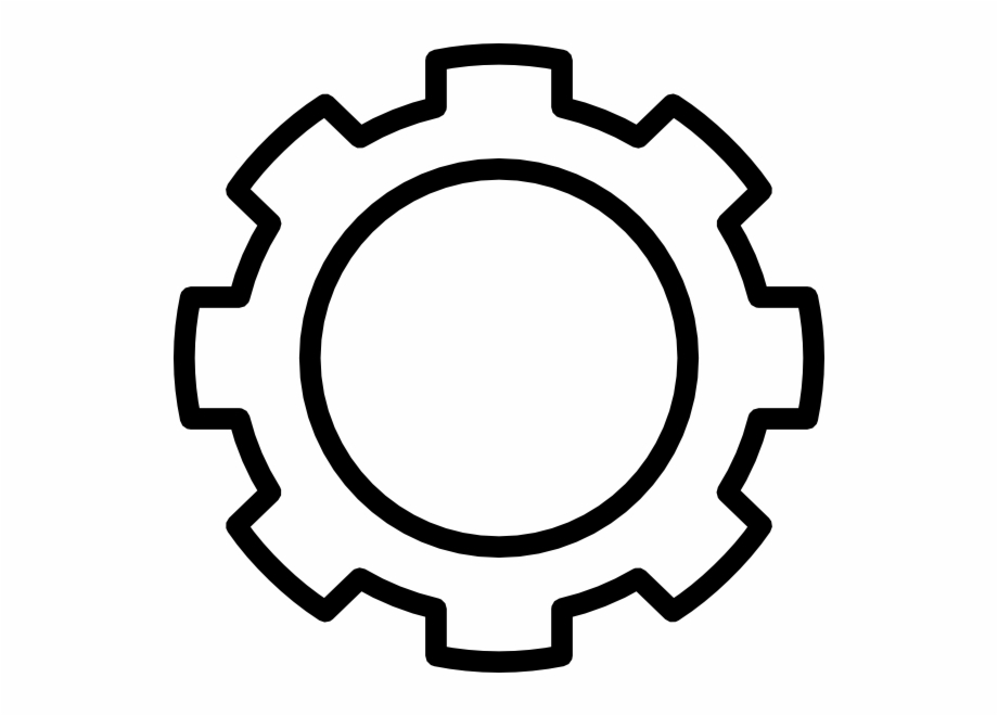 Gears clipart black and white, Gears black and white.
