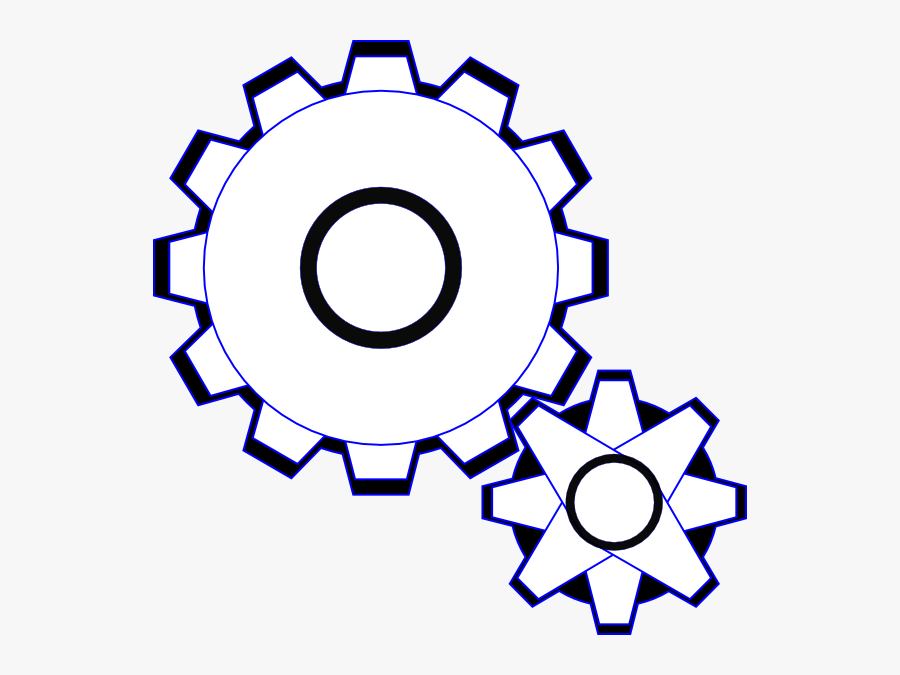 Simple Gears Svg Clip Arts.