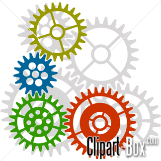 CLIPART GEARS BACKGROUND.