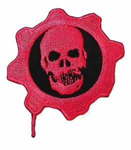 Details about Gears of War RED OMEN SKULL Embroidered Logo PATCH 4\