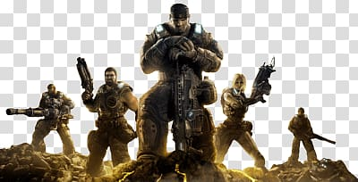 Gears of War characters illustration, Gears Of War Group.
