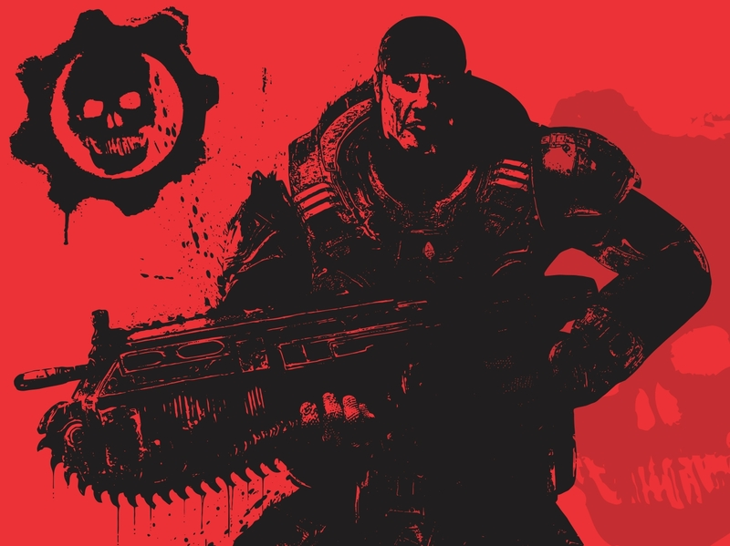 Gears of War (Marcus Fenix) Clipart Graphic.