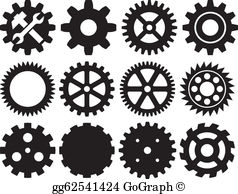 Gear Clip Art.