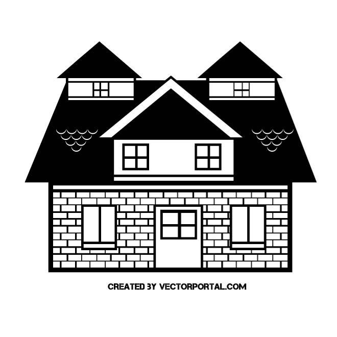 Gebaeude clipart - Clipground Construction House Clip Art Black And White