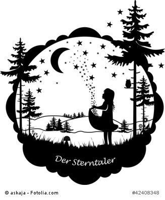 Das Märchen der Sterntaler der Gebrüder Grimm. Und wie es so stand.