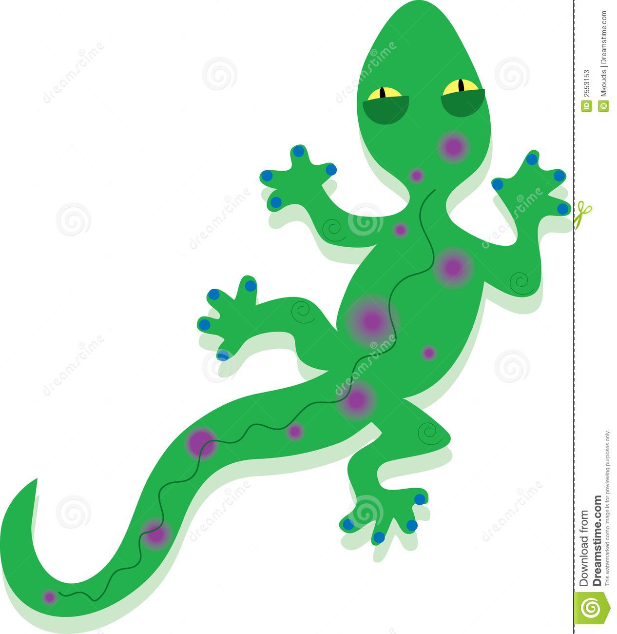 Gecko clip art.