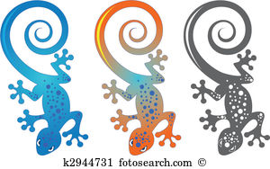Gecko Clip Art and Illustration. 885 gecko clipart vector EPS.