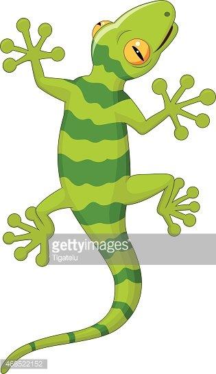 Cartoon gecko Clipart Image.