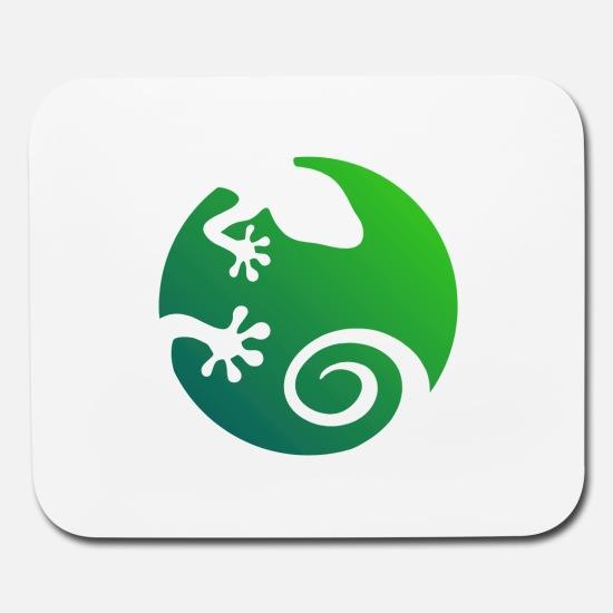green gecko logo Mouse pad Horizontal.