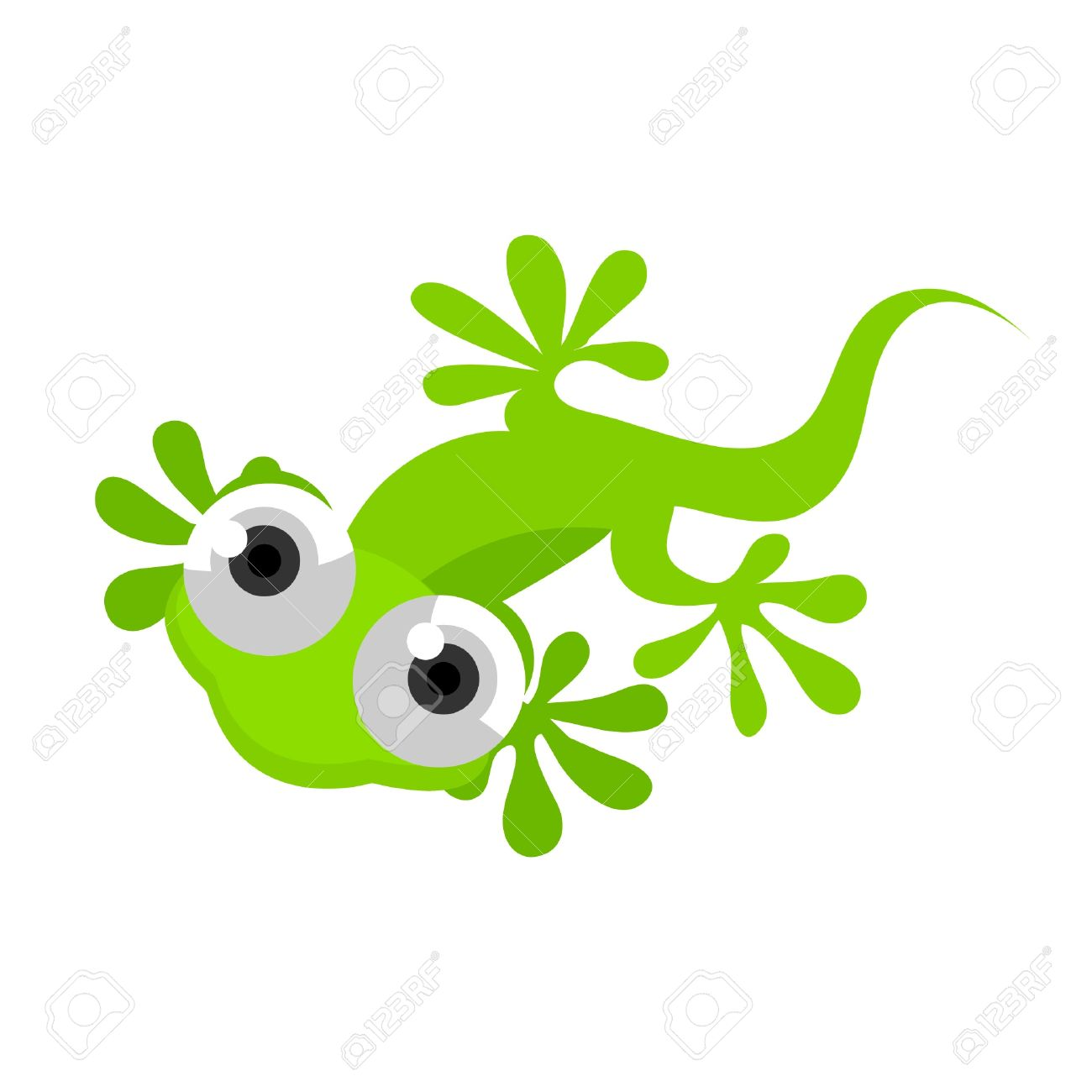 Green gecko clipart - Clipground