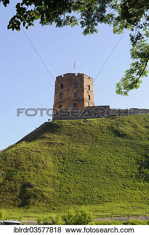 """Pictures of """"Gediminas' Tower, Vilnius, Vilnius County, Lithuania."""