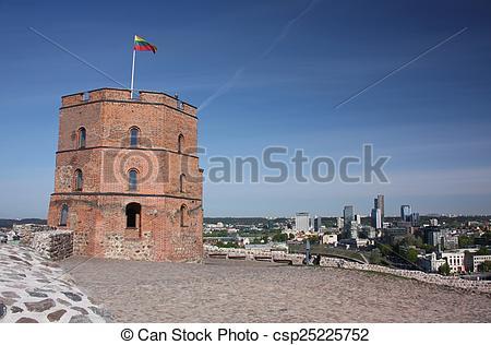 Gediminas tower clipart.