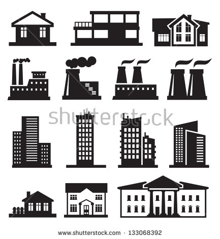 Vector Black Illustration Building Icon On Stock Vector 228499078.