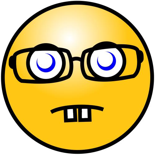 Smiley Geek Clip Art Download.