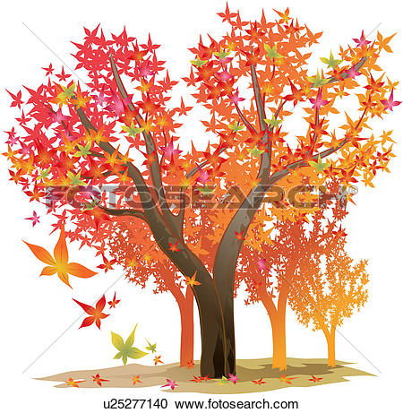 Clipart of autumn, tree, season, maple leaf, maple tree, fall.