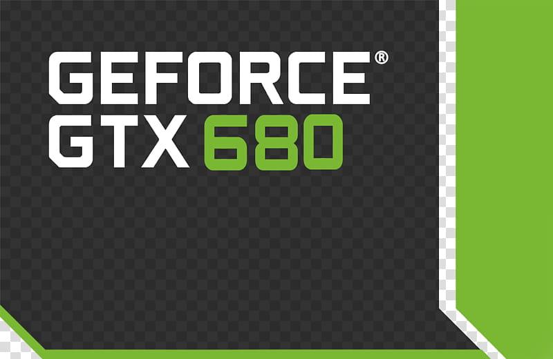 Original Logo NVIDIA GEFORCE BOX GTX transparent background.
