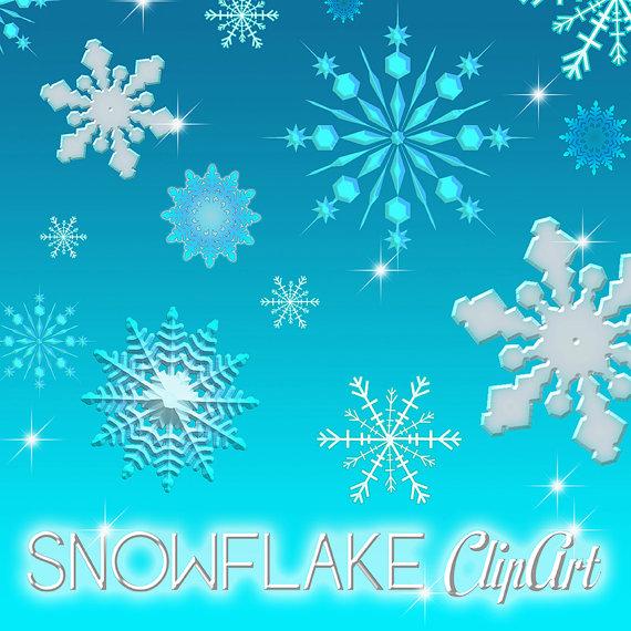 Ähnliche Artikel wie Schneeflocke Clipart, Clipart Schnee.